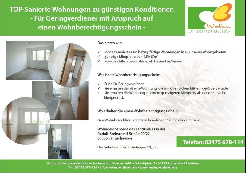 top sanierte wohnungen wobau lutherstadt eisleben wobau. Black Bedroom Furniture Sets. Home Design Ideas